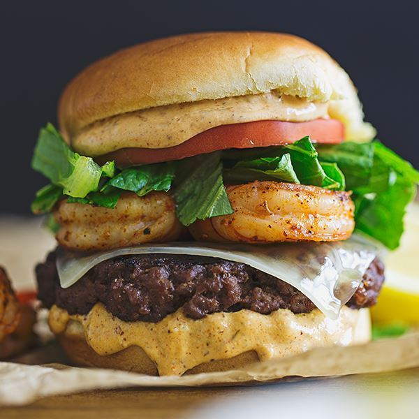 Cajun Shrimp Burger