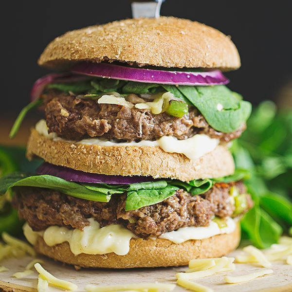Cheese and Jalapeno Stuffed Burger