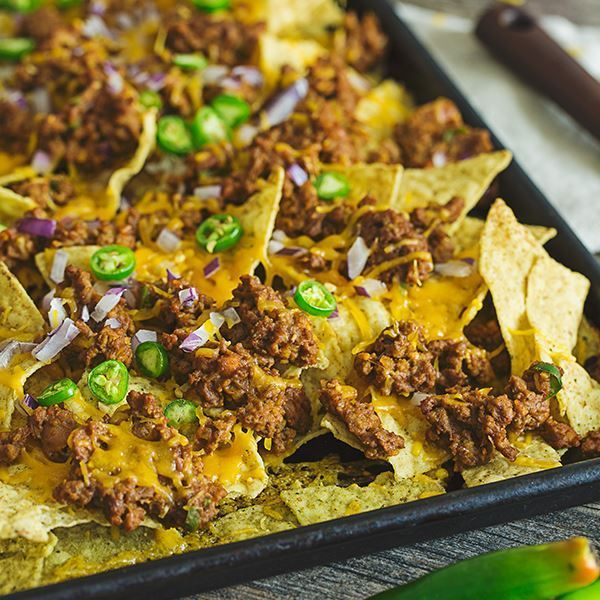 Ground Beef Cheesy Nachos
