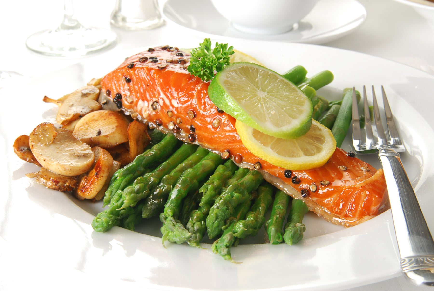Braised Salmon with Spring Vegetables