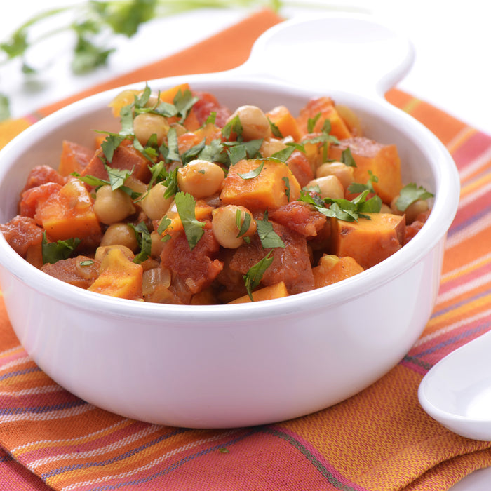 Chickpea and Potato Stew with Tomatoes and Picada