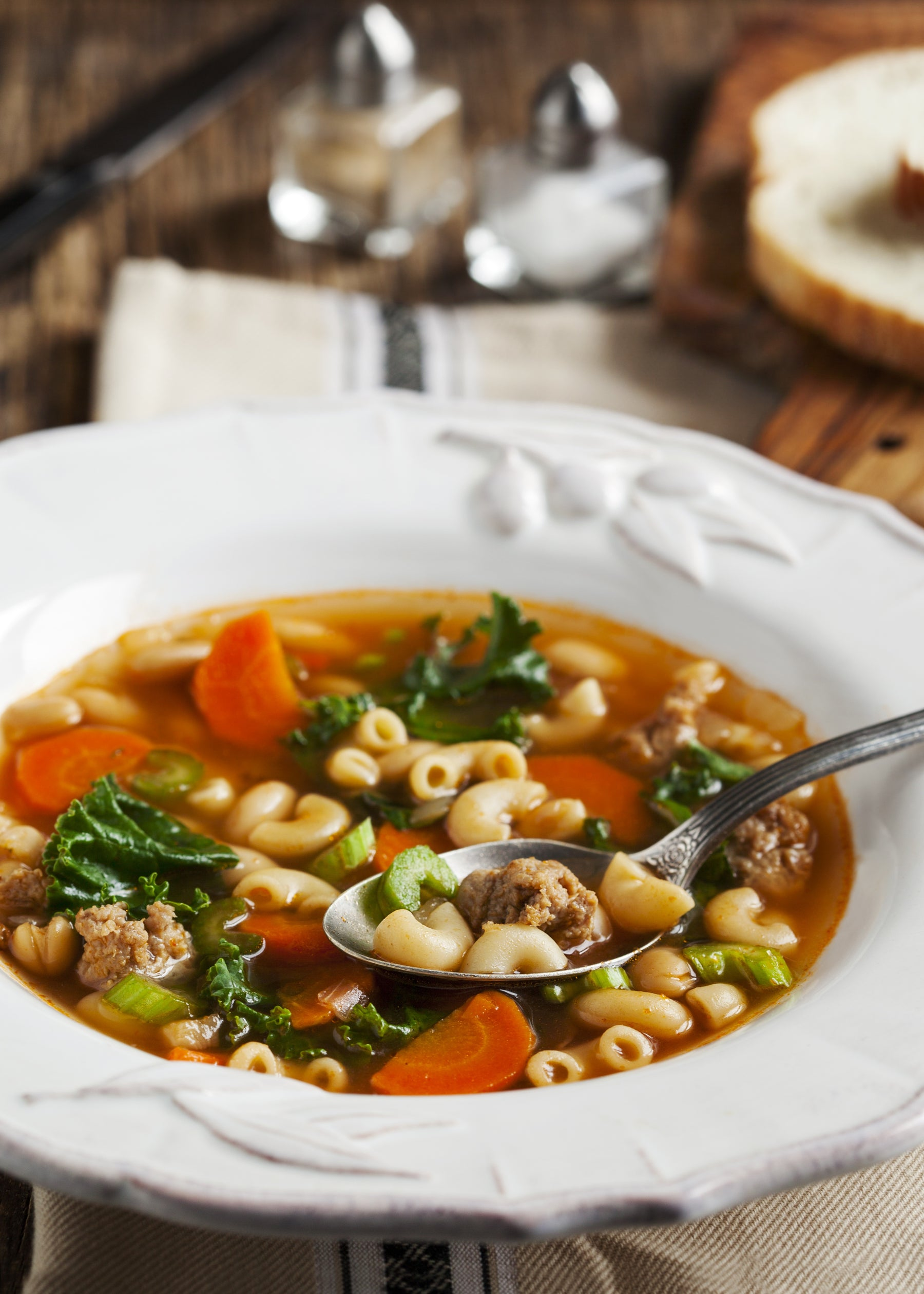 Italian Sausage and Vegetable Soup with Pasta