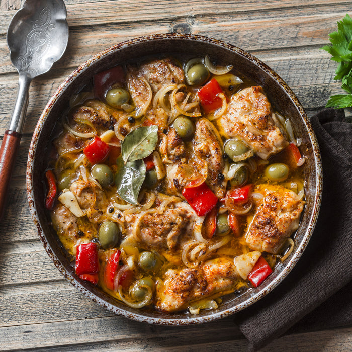 Mediterranean Chicken Stew with Olives
