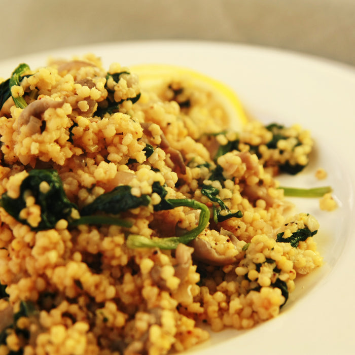 Mushroom Couscous with Herbs