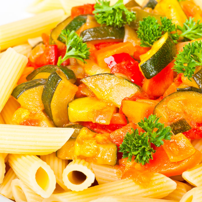 Pasta with Summer Squash and Tomatoes