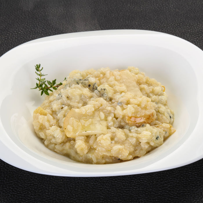 Pear Risotto with Goat Cheese and Pancetta