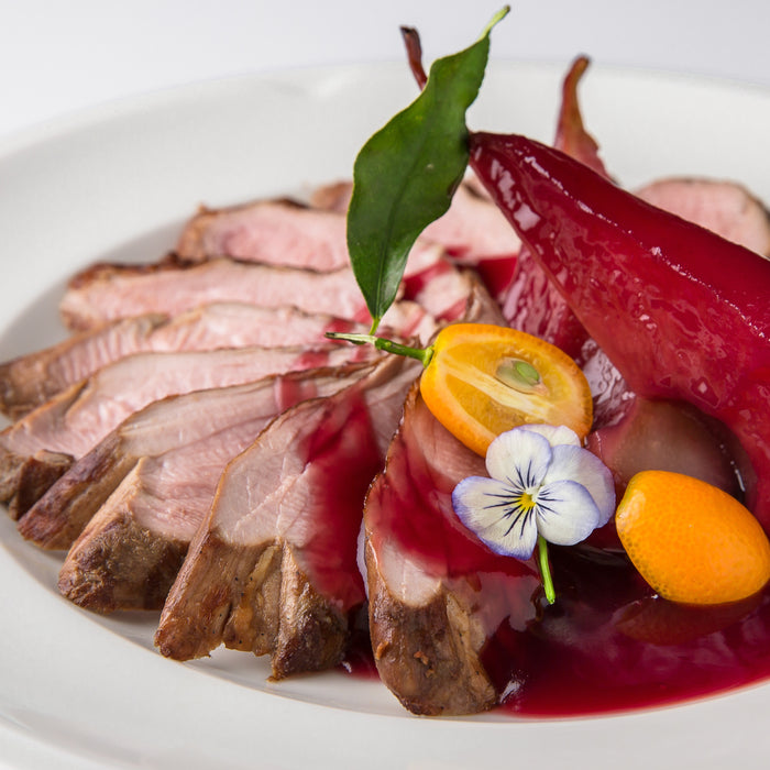 Pork with Cherry and Port Wine Sauce