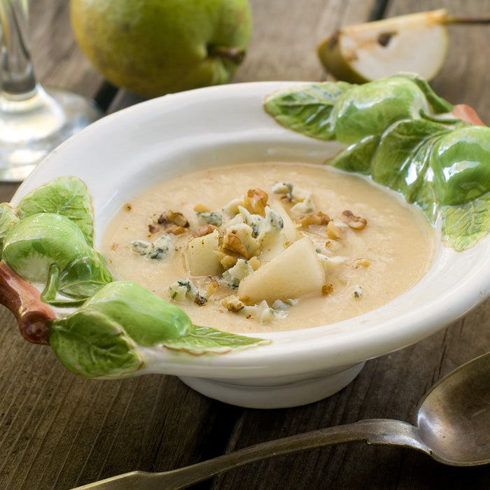 Savory Pear Soup with Gorgonzola and Walnuts