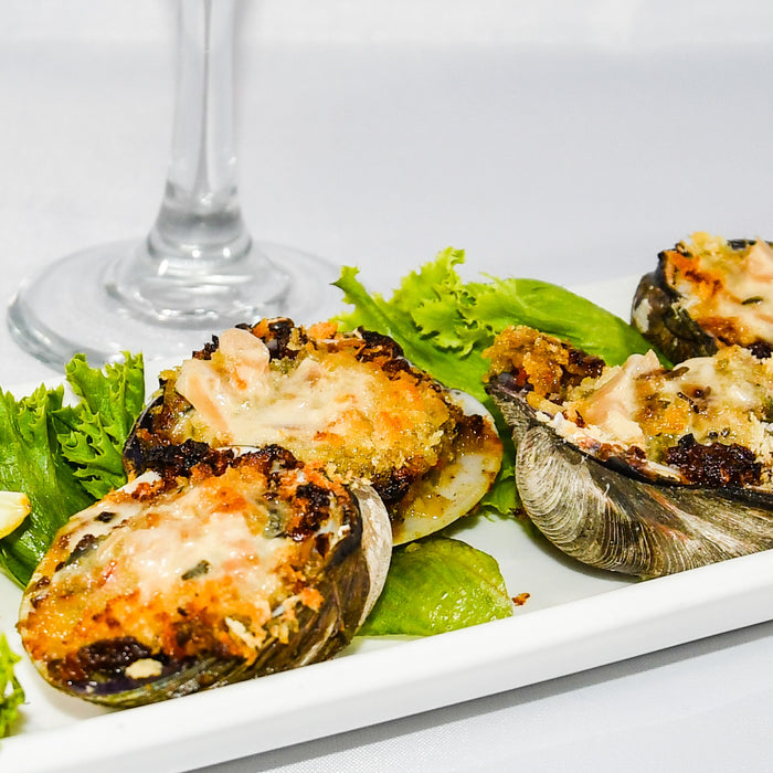 Stuffed Clams with Bacon and Peppers