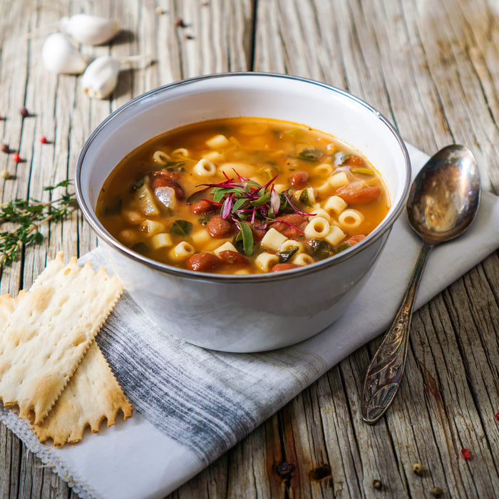 Tina's Slow-Cooked Meat Minestrone