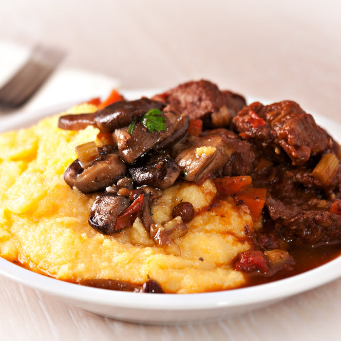 Tuscan Beef Stew with Polenta