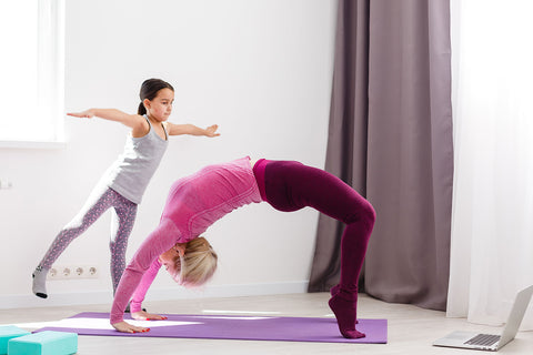 mother daughter yoga at home family time rainbow yoga training