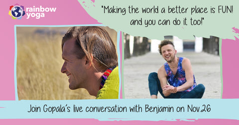 Rainbow Kids Yoga Interview Gopala and Benjamin
