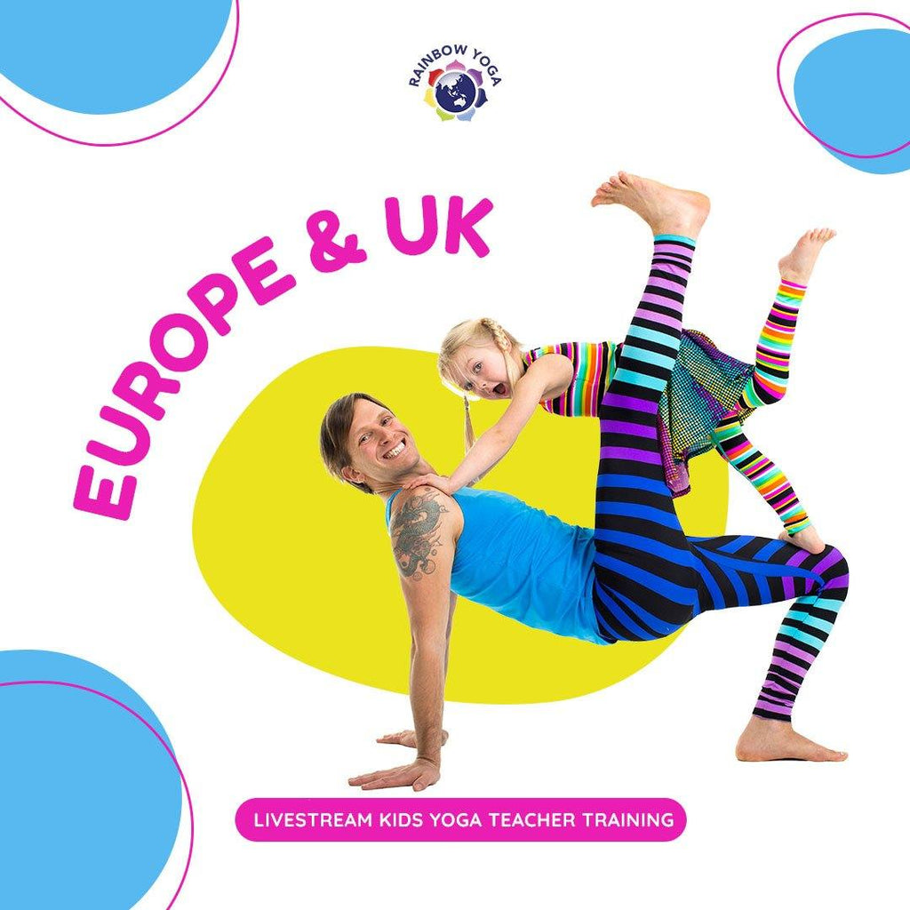 Europe - Level 1, 4 Day Live Stream Kids Yoga Teacher Training - RainbowYogaTraining