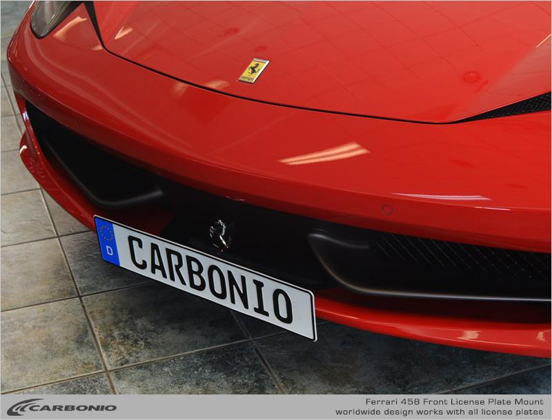 Ferrari F458 License Plate Mount