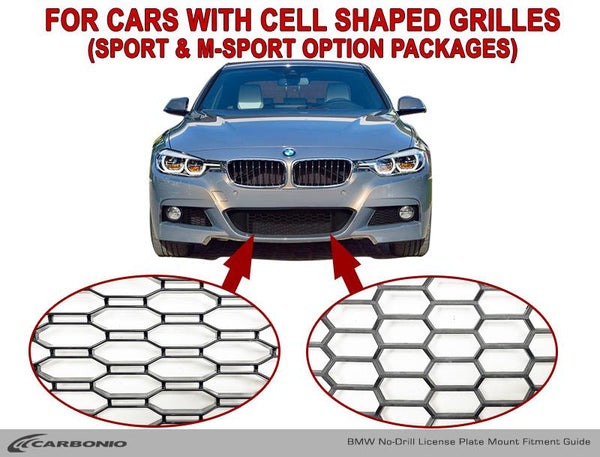 BMW 3-Series No-Drill Front License Plate Mount
