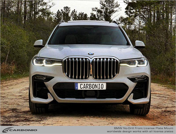 BMW X7 No-Drill Front License Plate Mount