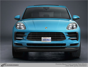 Porsche Macan No-Drill Front License Plate Mount