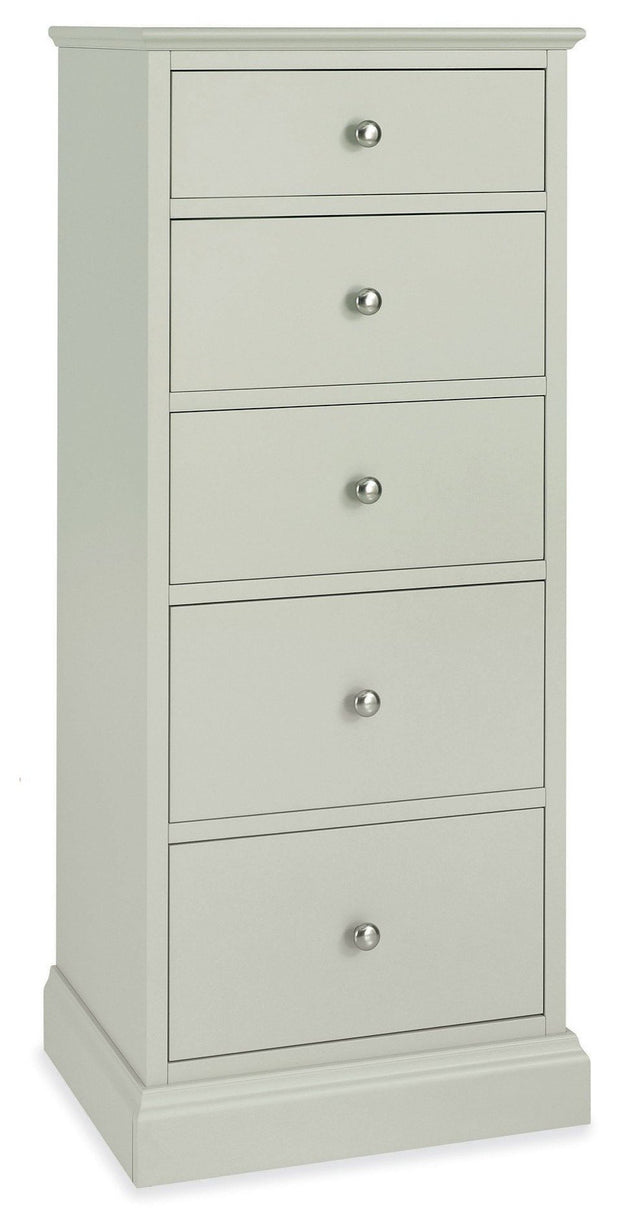 Bentley Designs Ashby Soft Grey 5 Drawer Tall Chest