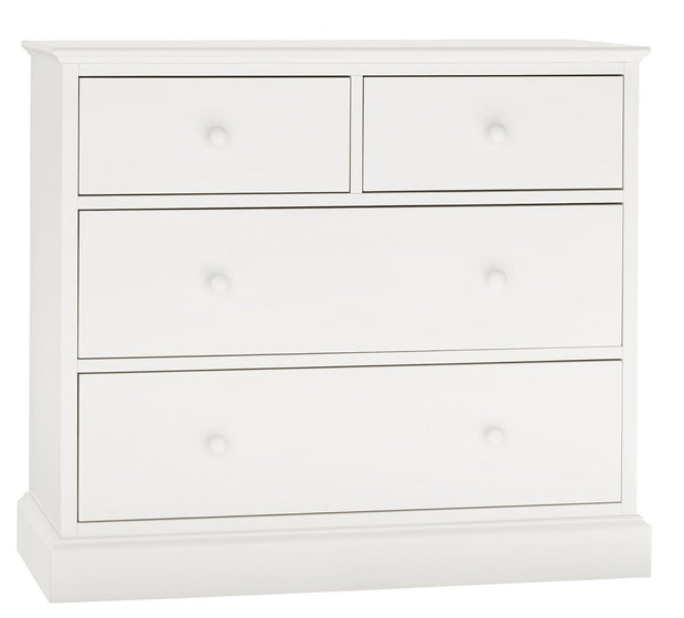 Bentley Designs Ashby White 2+2 Drawer Chest