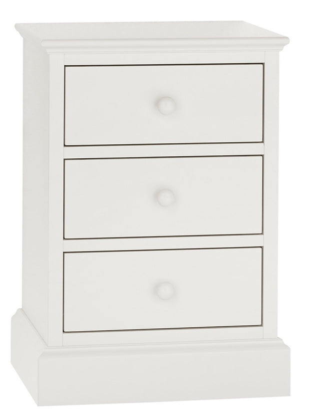 Bentley Designs Ashby White 3 Drawer Nightstand