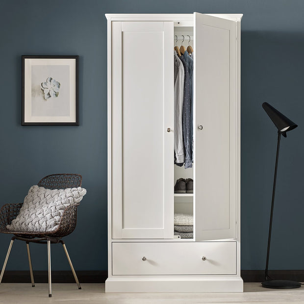 Bentley Designs Ashby White Double Wardrobe