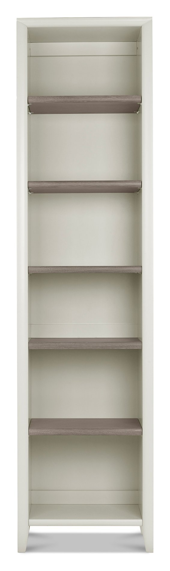 Bentley Designs Bergen Grey Washed Oak & Soft Grey Narrow Bookcase