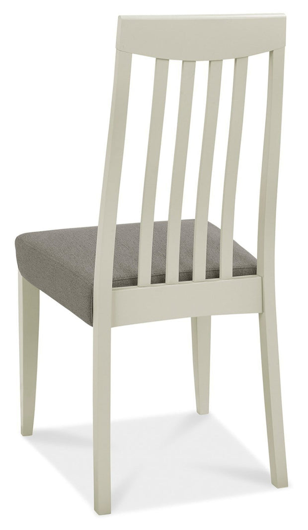 Bentley Designs Bergen Grey Washed Slat Back Chair - Titanium Fabric (Pair)