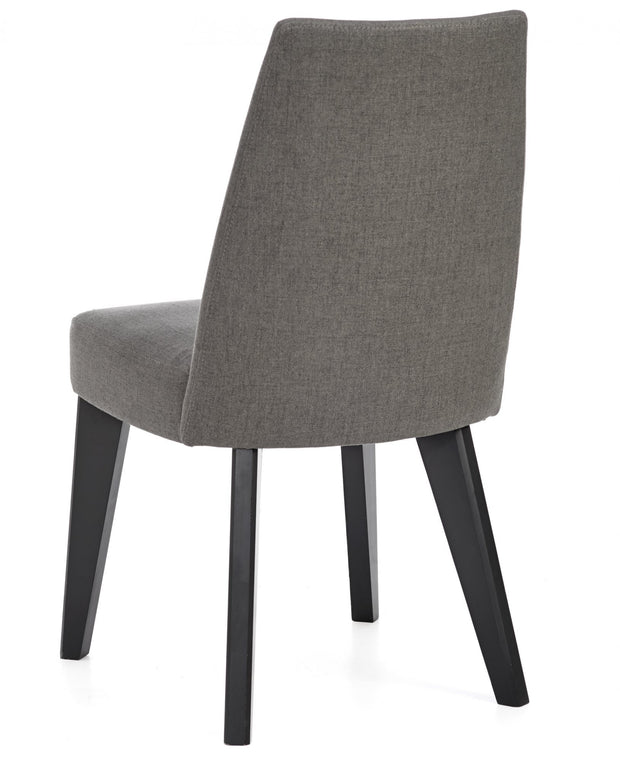 Bentley Designs Brunel Gunmetal Upholstered Fixed Chair - Cold Steel (Pair)