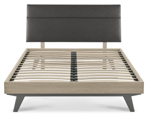 Bentley Designs Brunel Scandi Oak & Dark Grey Uph Bedstead