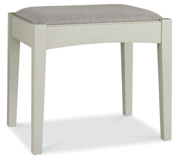 Bentley Designs Hampstead Soft Grey Stool - Pebble Grey Fabric