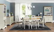Bentley Designs Hampstead Soft Grey & Oak Dining Set 'D' - Table & 6 Chairs