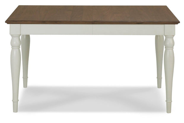 Bentley Designs Hampstead Soft Grey & Walnut 6-8 Extension Table - Rectangular