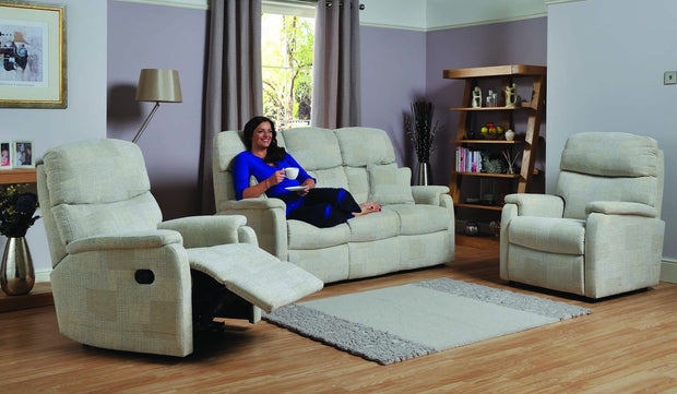 Celebrity Hertford 3 Seater Fabric Recliner Sofa