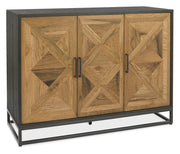 Indus Rustic Oak & Peppercorn Narrow Sideboard