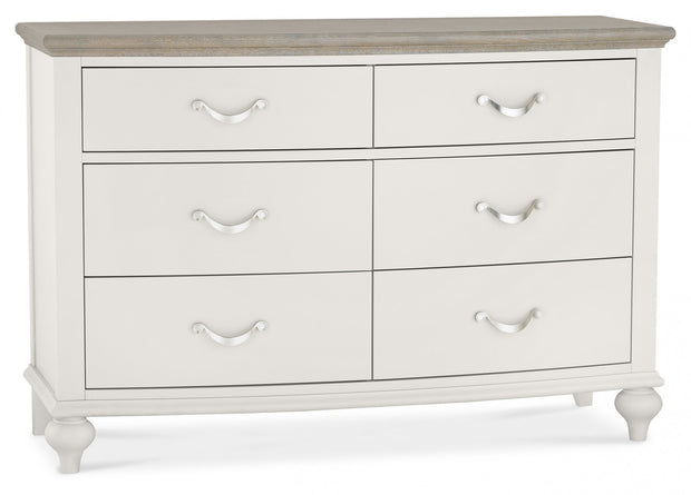 Bentley Designs Montreux Grey Washed Oak & Soft Grey 6 Drawer Wide Chest