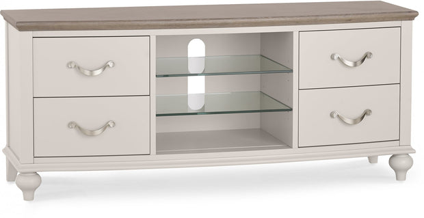 Bentley Designs Montreux Grey Washed Oak & Soft Grey Entertainment Unit