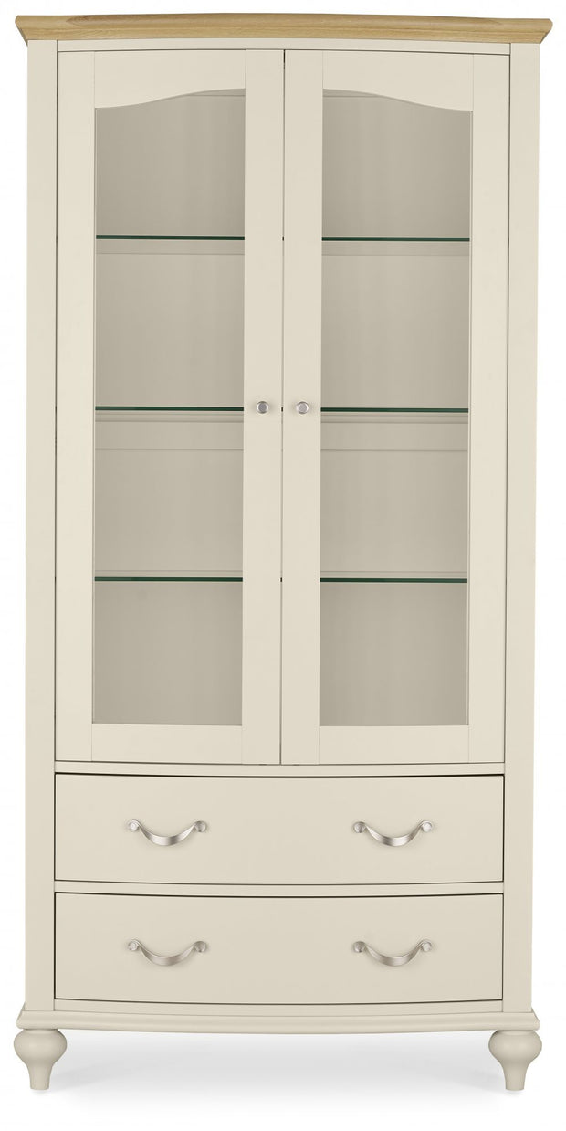 Bentley Designs Montreux Pale Oak & Antique White Display Cabinet