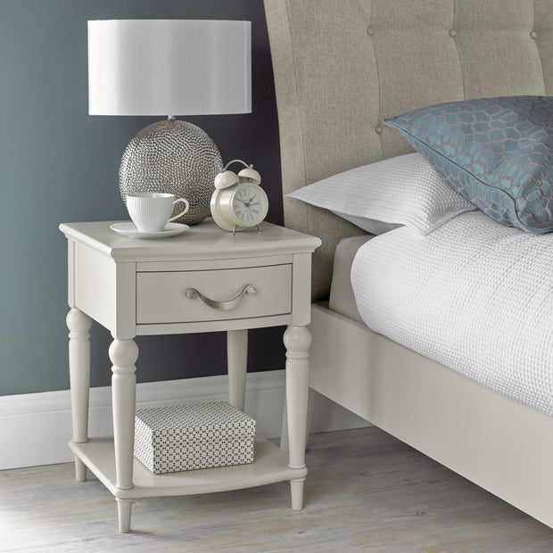 Bentley Designs Montreux Soft Grey 1 Drawer Nightstand