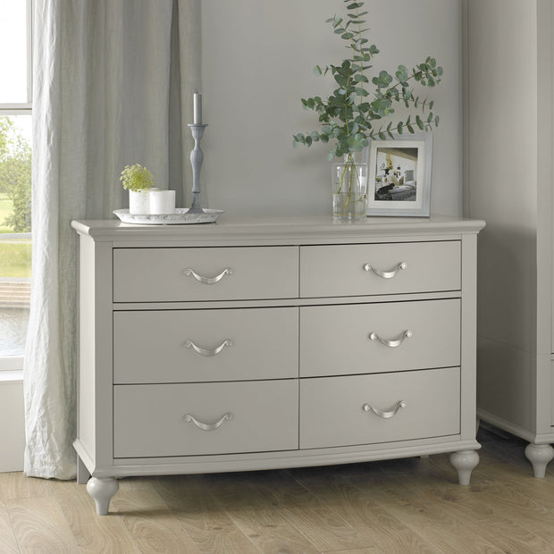 Bentley Designs Montreux Urban Grey 6 Drawer Wide Chest
