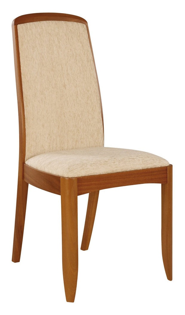 Nathan Teak Fully Upholstered Dining Chair