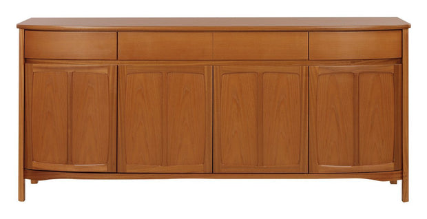 Nathan Teak Shaped 4 Door Sideboard