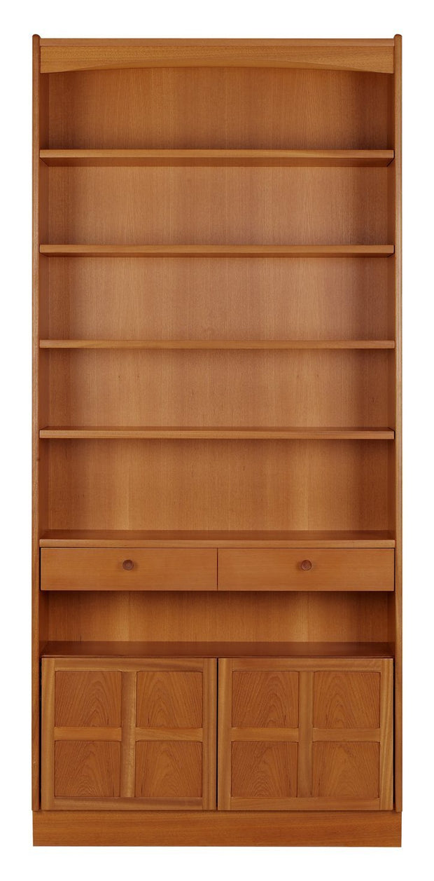 Nathan Teak Tall Bookcase with Doors