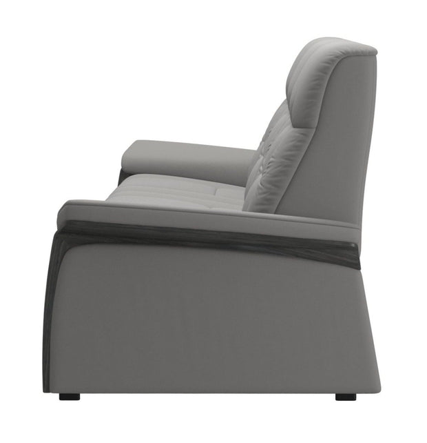 Stressless Mary 3 Seater - Paloma Silver Grey/Grey Wood