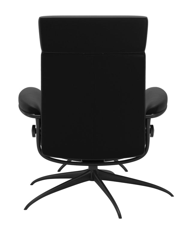Stressless Tokyo Adjustable Headrest Chair - Paloma Black/Matt Black