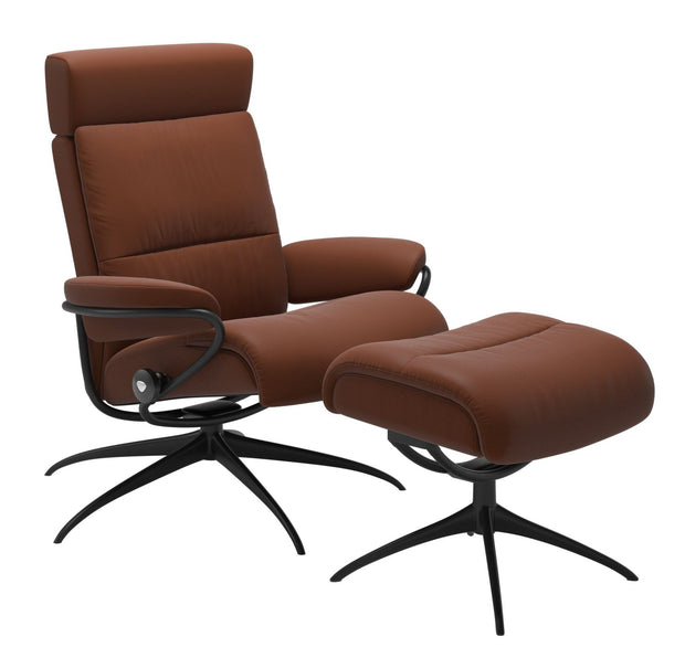 Stressless Tokyo Adjustable Headrest Chair - Paloma Copper/Matt Black