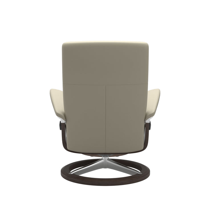Dover Medium Signature Base Chair & Stool in Batick Cream with Oak Wood