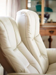 Stressless Buckingham High Back 2 Seater - Paloma Beige/Oak Wood