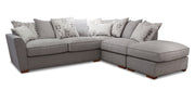 Atlantis 2 Seat Right Hand Facing with Footstool Pillow Back Sofa Bed Corner Group