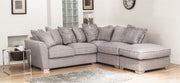 Fantasia 2 by 1 Seater with Footstool Right Hand Facing Pillow Back Corner Group